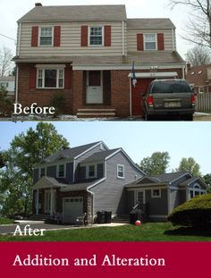 Harrisburg Architects | Residential Architectural Design Before and After of Addition and Alteration