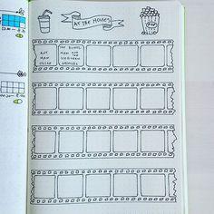 film bullet journal page * film bullet journal ; film bullet journal page ; Planner Bullet Journal, Bullet Journal Page, Bullet Journal Inspo, Journal Layout, My Journal, Journal Pages, To Do Planner, Passion Planner, Journal Inspiration