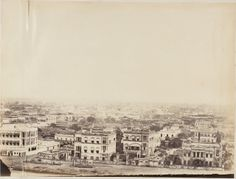 View+of+the+Calcutta+(Kolkata)+from+the+Ochterlony+Monument+-+c1850's