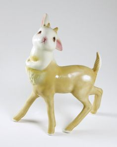 """""""Artist Debra Broz, seamlessly reconfigures kitsch animal figurines into works of art, by transplanting their ceramic limbs and merging different creatures together."""" - www.junk-culture.com"""
