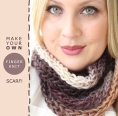 time for a super easy winter craft: the finger-knit scarf! i'd noticed a few pins  about how to make these, and then my sister's friend sara...