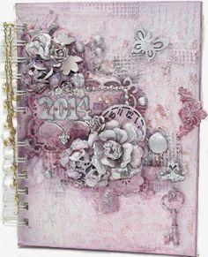 Art Journal 2014 - Kroma Crackle - Flying Unicorn