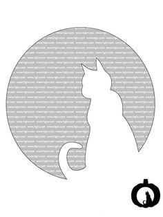 Cat pumpkin template