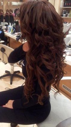 i want my hair this long, thick, curly, and dark.