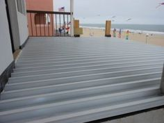 DryJoistEZ aluminum decking installed by Bally Services in Ocean City, Maryland.