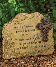 Love this Standing Memorial Garden Stone on #zulily! #zulilyfinds