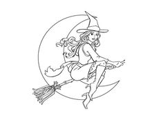 Witch Free Halloween Coloring Pages For Adults | coloring 7 ...