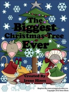 """The Biggest Christmas Tree Ever ~ Book Written By Steven Kroll    {Based On Common Core Standards}    This December and Christmas Unit has 68 pages of ideas, activities, foldables and printables that correlate with the book """"The Biggest Christmas Tree Ever.""""     If you liked my Best Selling Unit The Biggest Pumpkin Ever, which was a TOP 100 Download ON TpT, you will love this unit!"""