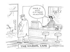 The Warhol Café - Cartoon Poster Print by Mick Stevens at the Condé Nast Collection History Jokes, Art History, Mom Tattoos, Tattoo Mom, Tattoo Sister, Famous Artwork, Cartoon Posters, Coding For Kids, Morse Code
