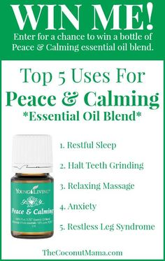 Peace & Calming Essential Oil Giveaway