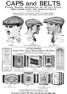 men's clothing catalog from Chicago, 1928-1929