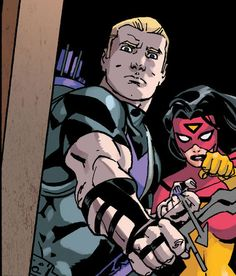 Hawkeye and Spider-Woman by Giuseppe Camuncoli