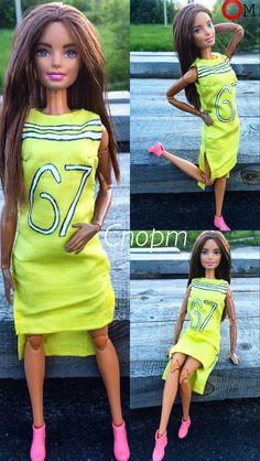 Спортивное желтое платье, наверное единственный образ не подходящий не под один другой.