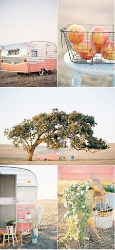 pink vintage trailer..yes please