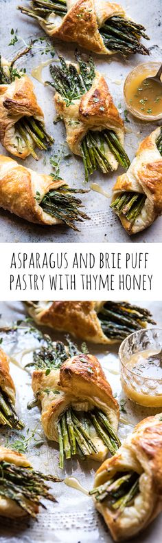 Asparagus and Brie Puff Pastry with Thyme Honey | halfbakedharvest.com #brunch #spring #recipe