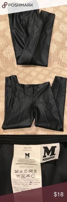 Missoni pants Leather imitation pants never worn but there's no tag just a part of it looks like a leather very comfortable Missoni Pants Skinny