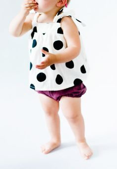 Handmade Polka Dot Tie Top | blytheandreese on Etsy