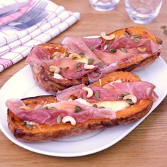 Butternut stuffed with goat cheese and ham - Discover a delicious fall recipe: butternut stuffed with goat cheese and ham! Healthy Snacks To Buy, Fun Snacks For Kids, Healthy Meal Prep, Easy Snacks, Kids Meals, Easy Meals, Kids Fun, Easy Healthy Recipes, Snack Recipes