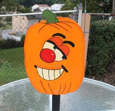 Happy Pumpkin Yard Sign / Decor / Art by WoodentItBeNice on Etsy