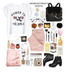 """""""#REBELWITHOUTAPAUSE"""" by xnightelsax ❤ liked on Polyvore featuring H&M, Forever 21, Fujifilm, NARS Cosmetics, Chanel, Estée Lauder, Christian Dior, Chloé, Creed and Casetify"""