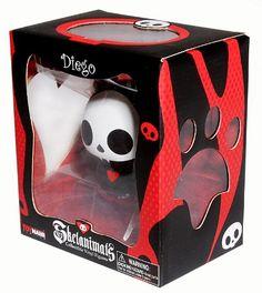 Skelanimals - Diego - Design Vinyl Toy Packaging - Window Box Right