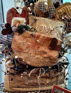 Primitive Valentines in stock https://www.facebook.com/AnnMarieHeathCustomFlorals