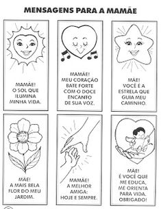 Marmelos e Cia: Dia das Mães Bullet Journal, Cards, Mother's Day Activities, Mothers Day Crafts, Diy Creative Ideas, Refrigerator, Vase, Maps
