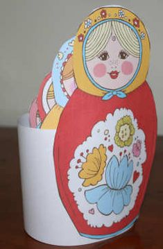 Printable Russian dolls, stacked together