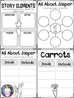 Creepy Carrots printables for after reading the book.