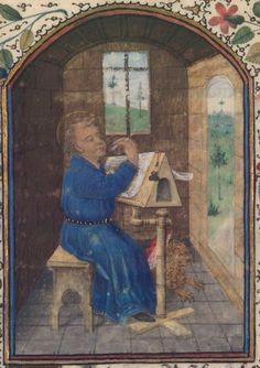 Horae ad usum Pictaviensem.  Date d'édition :  1455-1460  NAL 3191 Folio 21r