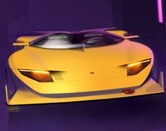 Yellow vibes by Haman Ezzati, via SIMKOM Car Design Sketch, Truck Design, Car Sketch, Car Photos, Car Pictures, Car Pics, Lamborghini Concept, Paper Car, Automobile