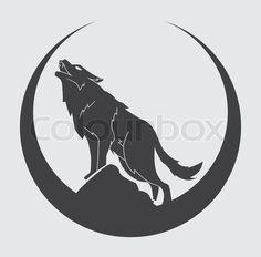 Wolf symbol stock vector