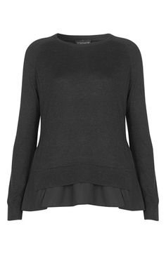 Topshop Woven Hem Pullover Sweater available at #Nordstrom