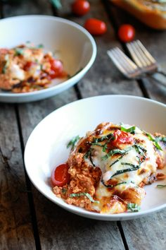 "Creamy Caprese Quinoa Bake -- We liked it. A great, yummy, easy, dinner. The only difference is I would add either ground beef or chicken to it. My husbands initial reply was, ""Where's the meat?"""