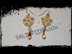 """Tutorial orecchini """"Sole d'oriente"""" realizzati con perline miyuki delica e rocaille"""
