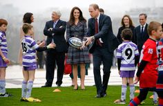 Prince William had a testing of his rugby skills