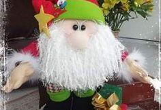 Papá Noel con regalos muñeco de tela con moldes Parrot, Bird, Dolls, Christmas Ornaments, Halloween, Holiday Decor, Vintage, River Rocks, Diy And Crafts