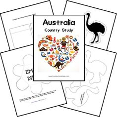 Australia country study lapbook plus links to other Australian lapbooks