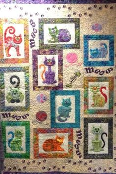 Cat's Meow by Angie Steveson of Lunch Box Quilts, quilted by ... : lunch box quilts cats meow - Adamdwight.com
