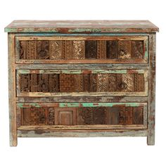 Vintage Bono Print Block 3-drawer Chest | Overstock™ Shopping - Great Deals on Kosas Collections Dressers