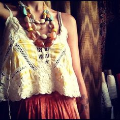 Gretchen Jones' accessories of the day. She's a fashion designer who participated of Project Runway.