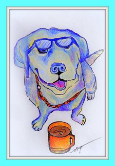 Coffee & Lab by MorootsArt on Etsy, $35.00
