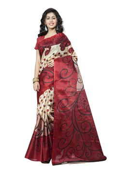 http://www.thatsend.com/shopping/lp/fvp/TESG228984/qf/color[]maroon  Maroon Silk Casual Saree Apparel Pattern Printed. Work Print. Blouse Piece Yes. Occasion Festive, Sangeet. Top Color Maroon.