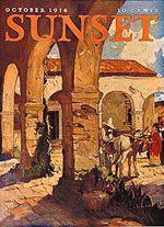 October 1934 cover - California rancho