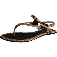 Opentip.com: Bruno Menegatti 10545608 - Black & Camel Leather Sandal Women Sandal $37.70