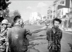 General Nguyen Ngoc Loan shooting a vietcong prisoner. Saigon. Photo by Eddie Adams, Putlizer 1969.