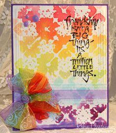 CAS TLC Friendship - embossing folder stamping
