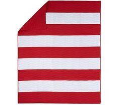 This would be cool if the stripes were made of different shades of red and white that had been sewn together to make up each stripe
