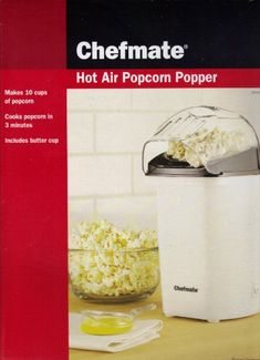 Chefmate Hot Air Popcorn Popper -- For more information, visit image link. (This is an affiliate link)