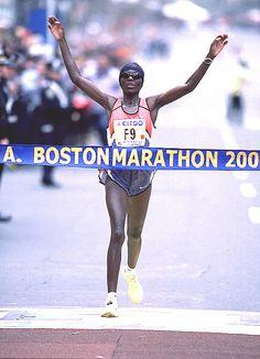 Catherine Ndereba, 4-time Boston Marathon champion, surprised many when she won her 1st Boston Marathon in 2000.